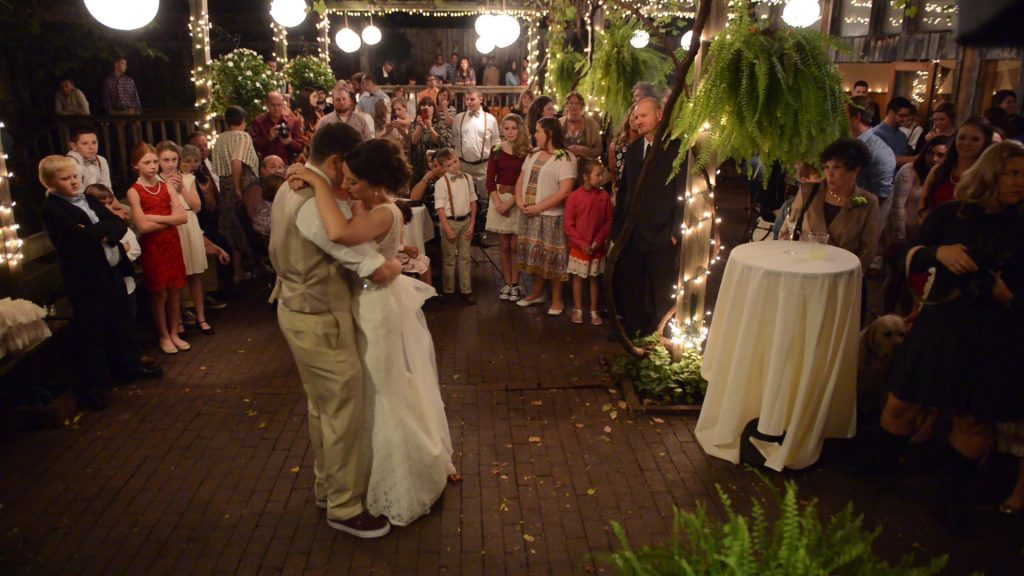 Nick's Fayetteville wedding video at the Garden Room