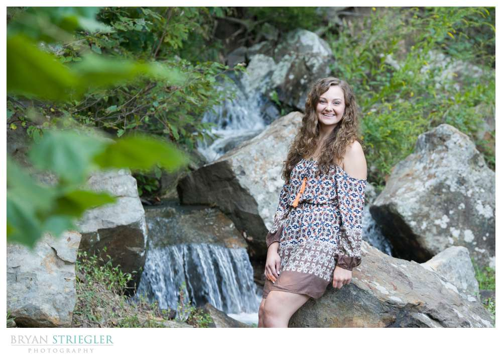 Adding Video to Photo Shoots Senior by Waterfall
