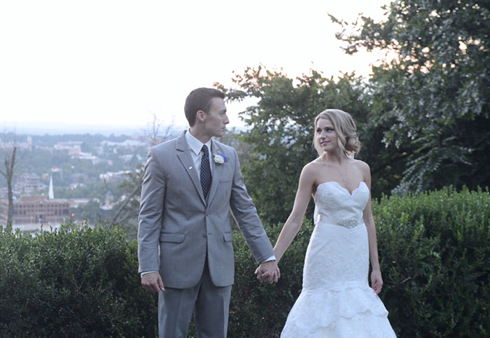 mount sequoyah wedding film by the cross