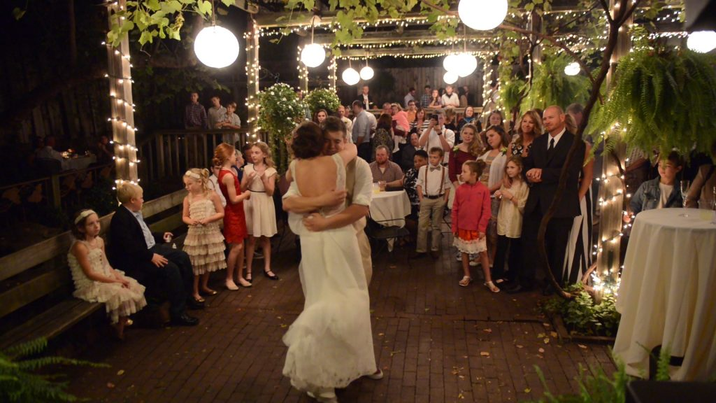 First dance at the Garden Room