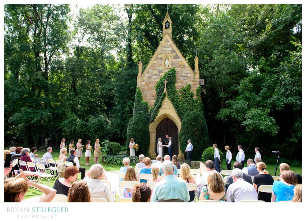 wide angle view of St. Catherine's at Bell Gable Wedding video